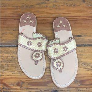 Jack Rogers Brown Tan Sandal Size 8